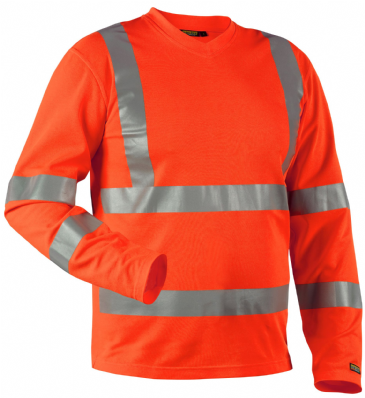 Blaklader 3381 High Visibility Long-Sleeved T-Shirt (Orange)